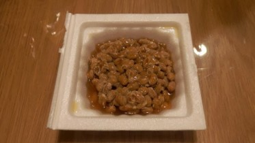 A plate of natto